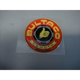 Logo Bultaco Rojo en resina